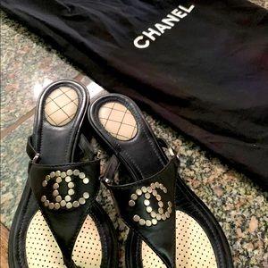 Chanel lambskin sandals mules thongs slides luxury